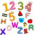 Bois aimant autocollant figures type souvenir aimant lettres type personnalisé en bois réfrigérateur aimant