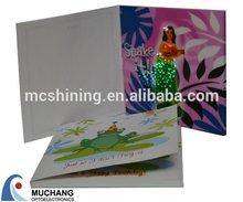 Fancy Illuminous Beautiful Music Invitation Card with Led