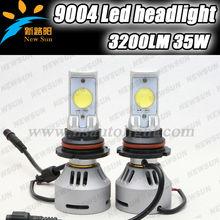 Latest New Upgrade Version Plug & Play 12V 24V auto head light, c ree MTG2 high low beam 3200lumen 35w 9004 LED Headlights