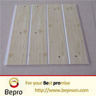 Wooden design PVC wall panel with one groove