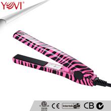 New product portable ceramic mini hair straightener for zebra printing