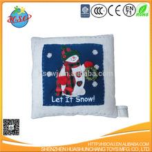 Christmas penguin plush cushion for children