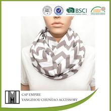 wholesale 100% cotton chevron baby scarf