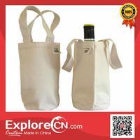 Custom Printed canvas wine bottle bags