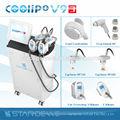 تذويب الدهون cryolipolysis يبو rf فراغ التجويف ضئيلة في 1 6 آلة-- coolipo v7 الثالث