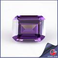 laboratorio creado púrpura amythest cz piedra corte esmeralda