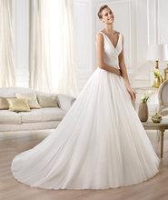 New Designer White Chiffon V-neck Wedding Dress Bridal Dress wedding dresses made to order china TPD003