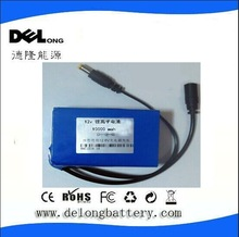 10Ah rechargeable portable battery 12v dc battery for CCTV Camera/LED light