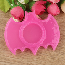 L0613024 Resin Rose Red Blank Tray Fit 25mm Round Cabochons, 62mm Bat Shape Resin Cameo Setting