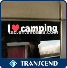 I love camping Print Custom Removable Car sticker,Car window sticker,Car body sticker