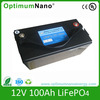 12V 100Ah new energy storage LiFePO4 battery for the solar energy