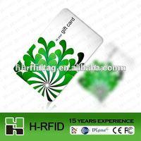 RFID Smart Silk Printing Embossed Card 13.65MHz Read&Write NFC IC Card