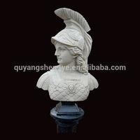 antique roman soldier female bust sculpture