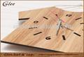 diseño de la camisa de madera hechos a mano de lujo reloj de pared
