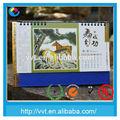 kreative tisch druck zelt kunst faltbare chinesischen bambus kalender