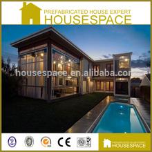 Green Decorated Prefabricated Luxury Modern Steel Villa Sale