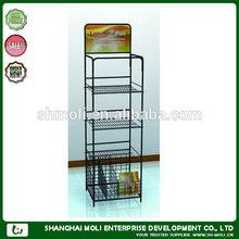 ML-08164 metal Wire Shelf/Supermarket folding metal display stand/metal wire basket display rack in store