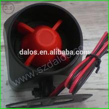 hot selling 12V 15W 20W 25W one tome/six tone car alarm siren one way car alarm siren for cars