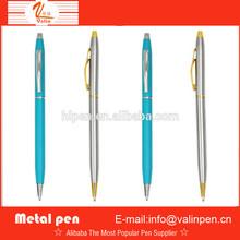 blue barrel slim metal ball pen