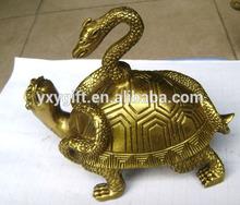 brass tortoise with snake on back /copper snake tortoise decor wholesale fengshui arts & crafts