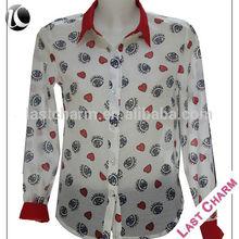 LAST CHARM Patchwork women neck design for ladies top