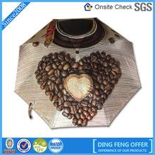 high quality popular lovely heart 3 fold umbrella