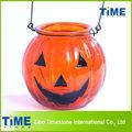 decorativos de vidrio de calabaza de halloween