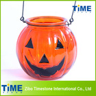 Decorative Glass Halloween Pumpkin