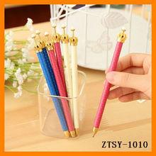 2014 new cheap feature crown shape plastic promotional sign gel ink pen wholesale ZTSY-1010