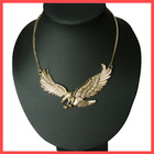 Eagle Pendant Necklace Made of Ally Plated Gold
