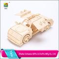 China fabrica artículos de regalo promocional 3d puzzles/rompecabezas popular de madera de juguete del coche