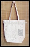 Fashion Cheap Cotton Canvas Shopper Bag,custom printing fabric tote bag,full color custom printed canvas tote bags