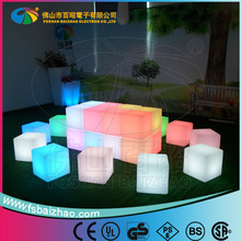 Popular RGB remote control led lighting bar cub stool