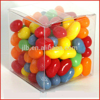 Customized colorful printed small clear hard plastic candy packaging box for wedding