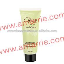 Herbal Ingredient Moisturizing and Nourishing Olive Hand Cream