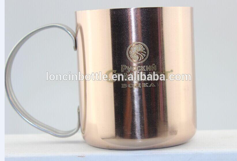 แก้วทองแดงmoscowล่อสำหรับ12ออนซ์ทองแดง- หุ้มสแตนเลสถ้วยแปลก, แน่นอน2วอดก้าทองแดงมอสโกของแข็งล่อแก้ววอดก้า