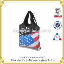 National flag design high quality non-woven bag, single shoulder bag, promotion