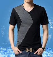 OEM 2014 latest shirt designs for men v neck t shirts manufacturers china t shirt