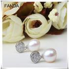 Freshwater pearl lady earrings design/natural pearl earring stud