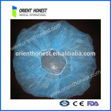 Blue disposable PP nonwoven surgical cap