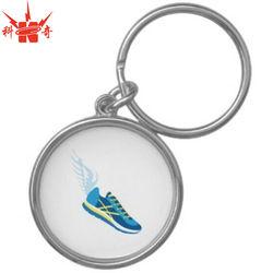 Premium Shoe Round Metal KeyChain Custom Running Shoe keychain