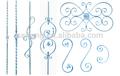 ornamentalen s und c tor zaun schmiedeeisen blättern komponente
