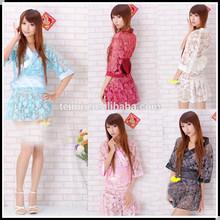hot sell costume multicolor spandex anime kimono costume