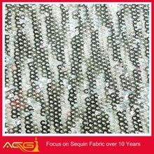 Lluvia de la gota de lentejuelas tafetán tela 100% poliéster moda nupcial venta al por mayor de ajo de la decoración