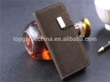Leather belt clip flip wallet case for iphone 5 5S
