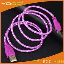 OEM/ODM Micro Nylon Braided usb cable, Micro USB Braided Fabric Nylon, mobile phone Fabric braid cable
