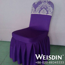 twill china wholesale polyester/cotton wholesale wedding chair covers and organza sashes