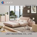 Lk-lb114 projeto o mais novo rosa cor de couro quarto com cama de noite stands