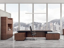 2014 Luxury furniture large wooden office executive desk for Dubai market (BF28)