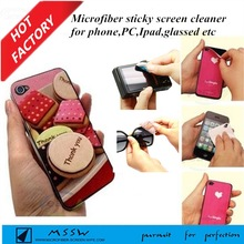 custom mobile phone sticker ,sticky cleaner,screen cleaner